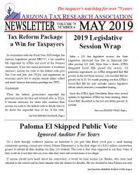 ATRA Newsletters: 2019 | Arizona Tax Research Association