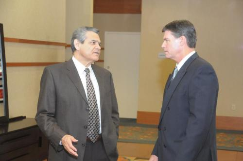 (from left to right) Tony Astorga, Senior Vice President, Blue Cross Blue Shield of Arizona, & Richard Foreman, Director of Corporate Public Affairs, Southwest Gas Corporation