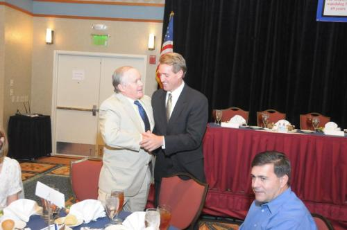 (from left to right) Senate Majority Whip Steve Pierce, & Congressman Jeff Flake